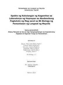 Mga Halimbawa Ng Research Paper Sa 2 by Epekto Ng Kakulangan Ng Kagamitan Sa Laboratoryo Ng Haynayan Sa Akademikong Pagkatuto Ng Mag