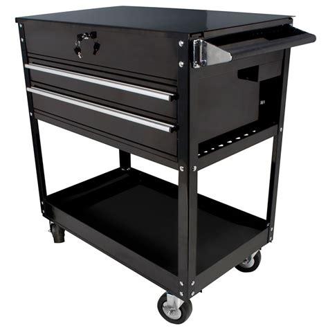 top service 2 drawer locking top service cart 500 lb capacity sunex international 8050