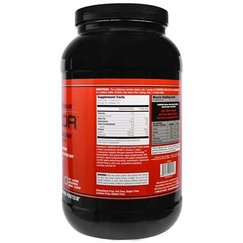 Musclemeds Carnivor 4 6lb musclemeds carnivor bioengineered beef protein isolate fruit punch 2 lbs 904 4 g iherb