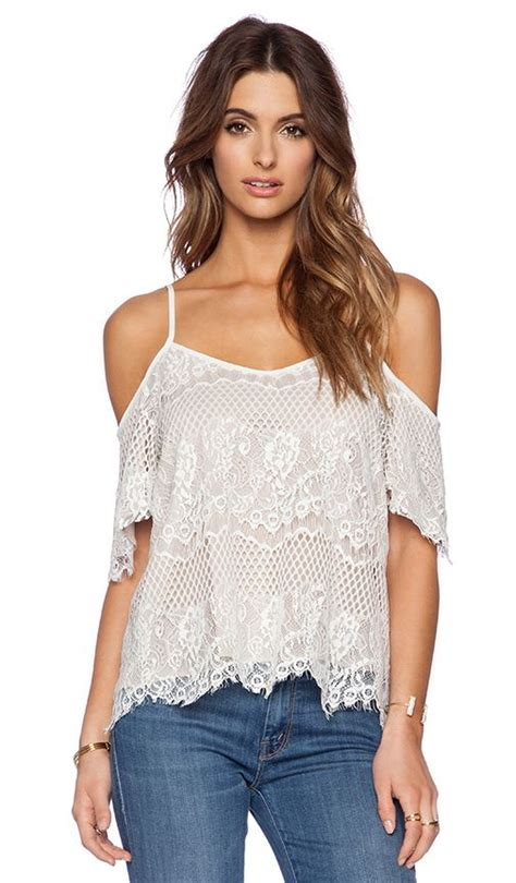 Open Shoulder Top white lace open shoulder top shopping cart