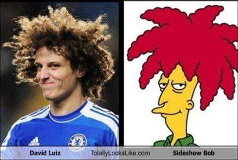 David Luiz Meme - david luiz sideshow bob dopplegangers pinterest