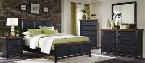 black and oak bedroom furniture coaster mabel bedroom set medium oak black 203151 bed