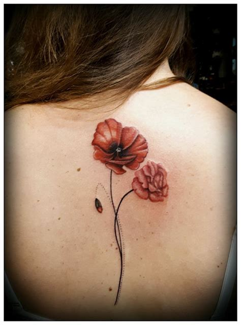 poppy and rose tattoo best 25 ideas on shoulder