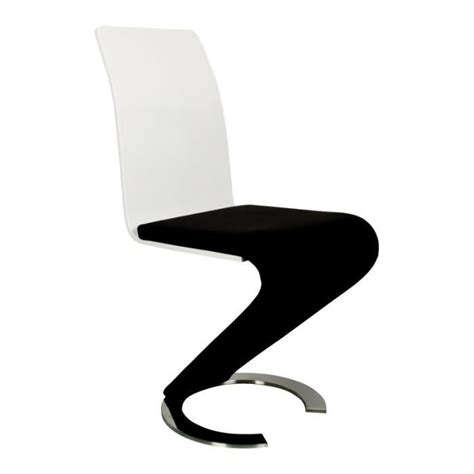 chaise noir et blanc chaise design noir et blanc lot de 2 achat vente