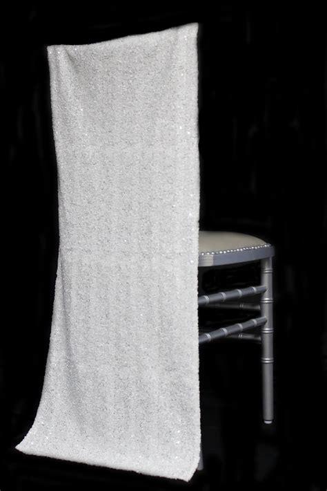 Chiavari Chair Covers by Chiavari Chair Covers White Sequins