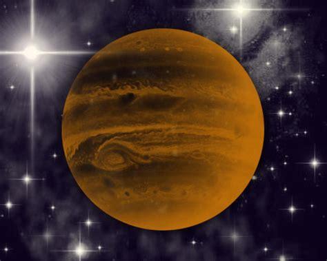 orange jupiter  starry background background image