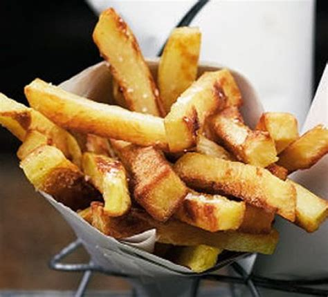 Handmade Chips - oven roasted chips recipe food
