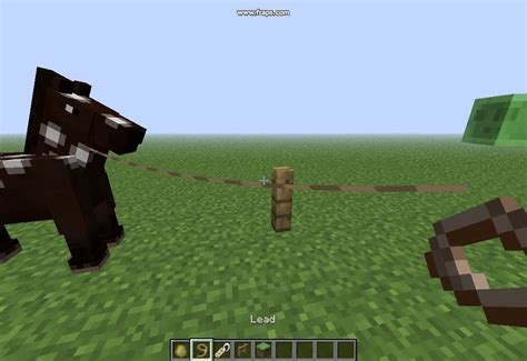 minecraft leash boat how to tie a horse to fences minecraft youtube