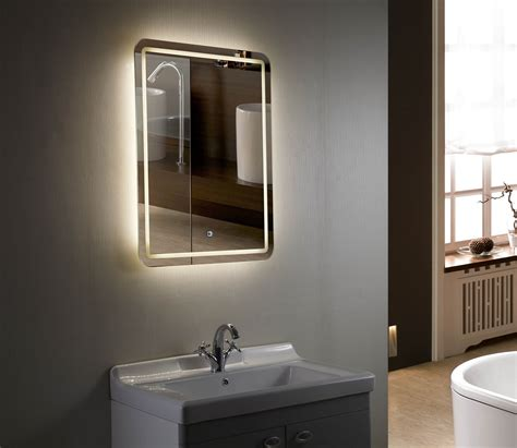 Led Mirrors For Bathrooms 28 Bathroom Lighting Bathroom Mirror Led Rectangular Mirror Light In Matt Nickel Or