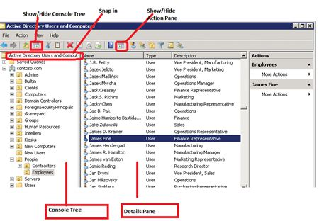 active directory console working with active directory snap ins server tutorials