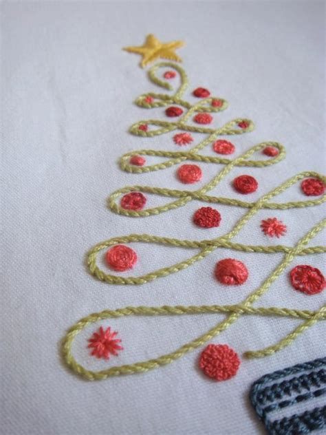 Christmas Tree Hand Embroidery Pattern | christmas tree by kelly fletcher embroidery pattern