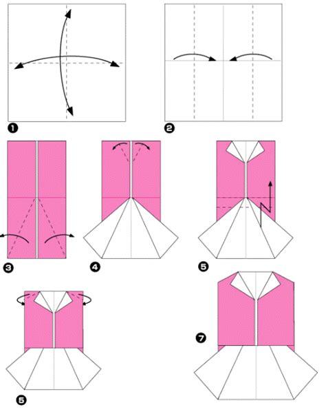 How To Make Paper Clothes - origami clothes origami paper