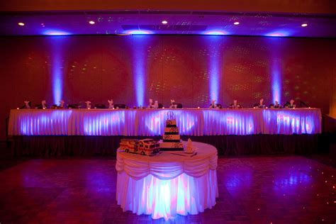 Up Lights by Uplighting The Bad Beautiful Maine Wedding