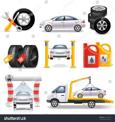 Auto Service by Auto Service Set Stock Vector 110734142