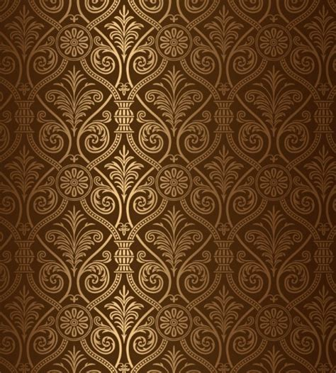 brown pattern free free glossy brown floral pattern vector titanui