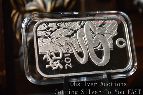 1 oz year of the silver bar 999 1 oz silver bar 999 silver bullion 2013 year of