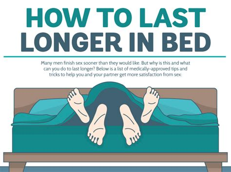 tricks to last longer in bed how to last longer in bed according to this infographic