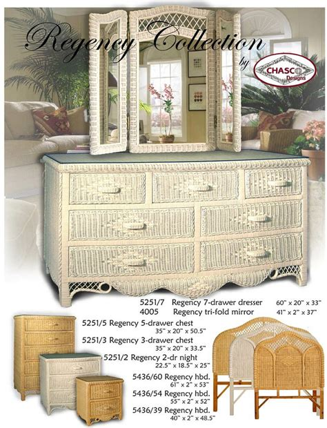 regency white wicker bedroom furniture by schober white