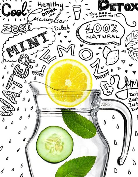 Flat Belly Detox System by This Magical Lemon Cucumber And Mint Mix Fused Overnight