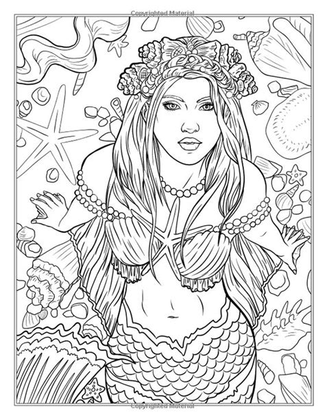 mermaid coloring book mythical mermaids coloring book www imgkid the