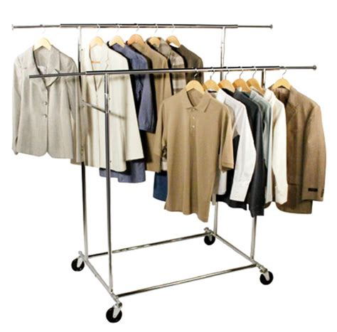 Clothes Rack Commercial bar commercial chrome garment rack in clothing
