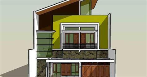 warna cat rumah minimalis atap biru denah rumah