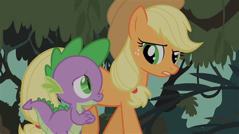 my little pony spike and applejack image spike and applejack discussing possibilities about