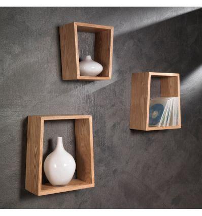 arredamento mensole a parete set tre mensole brenda a parete in legno rovere