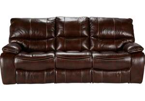 Leather Sofas And Chairs Cindy Crawford Home Gianna Brown Leather Reclining Sofa