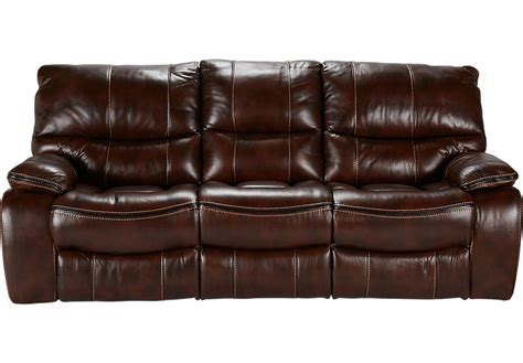 brown leather reclining couch cindy crawford home gianna brown leather reclining sofa