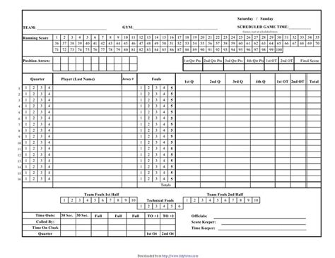basketball score sheet template excel search results for basketball score sheet free
