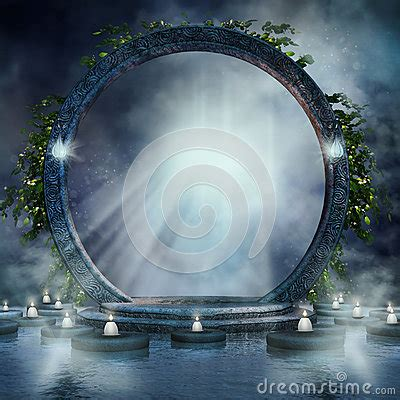 fantasy magic portal stock illustration image