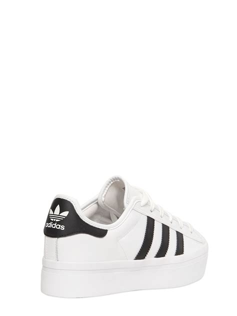 platform white sneakers adidas originals superstar platform leather sneakers in