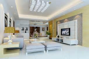 modern house 3d living interior tv wall design