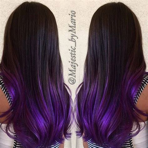 weave hairstyles with purple tips black hair with purple tips www pixshark com images