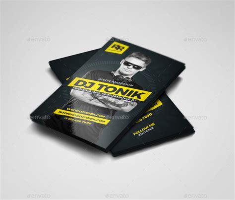 producer business card template psd prodj dj producer business card psd template by