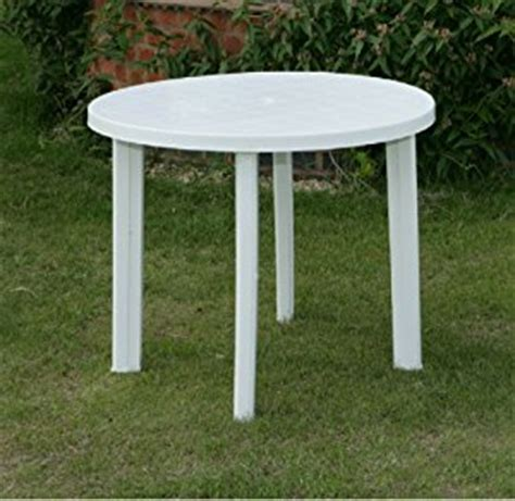 White Plastic Patio Table Progarden White Plastic Garden Patio Table Parasol Holder Slot 326703