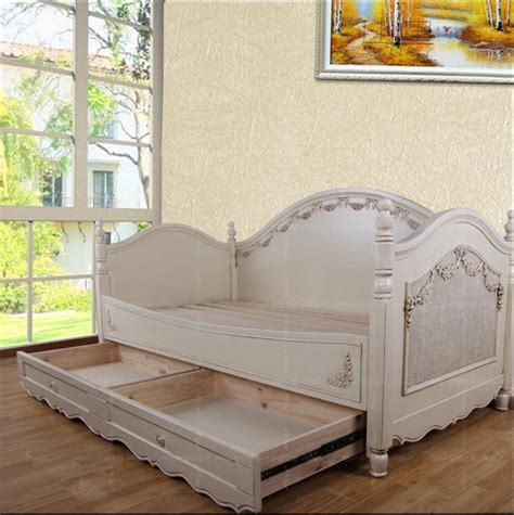 sofa beds for girls european mediterranean solid wood furniture custom