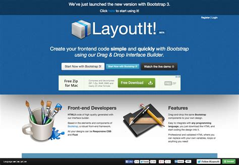 layoutit interface builder for bootstrap the ultimate guide to bootstrap webdesigner depot