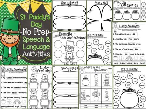 s day speech activities st s day no prep activities for speech therapy