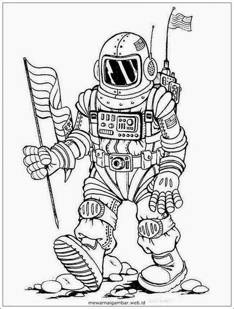 Mewarnai Gambar Astronot | Mewarnai Gambar