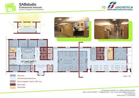 layout uffici uffici fs logisita sabstudio studio di ingegneria e