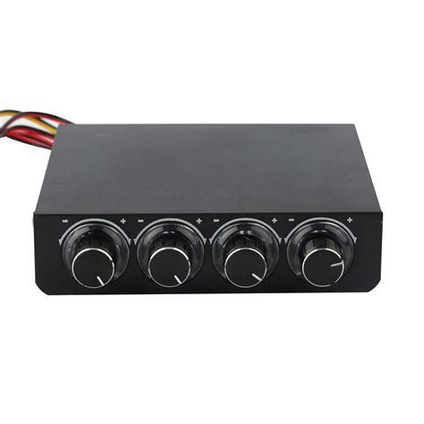 best computer fan controller 3 5inch pc pc hdd cpu 4 channel fan speed controller