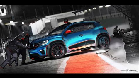 kwid renault 2016 renault kwid racer 2016 wallpapers hd blue high quality