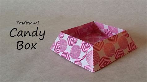 Origami Chocolate Box - origami box tutorial