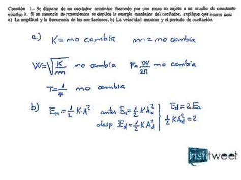 formula oscilacion amortiguada problema vibraciones calculo frecuencia de oscilador
