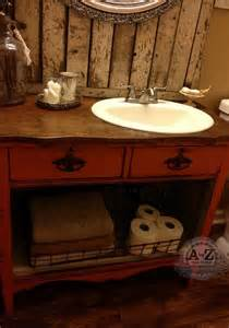 repurposed bathroom vanity from antique chest for the