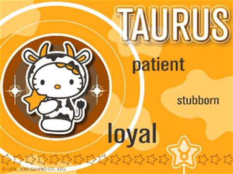 Hello Taurus taurus kawaii resources