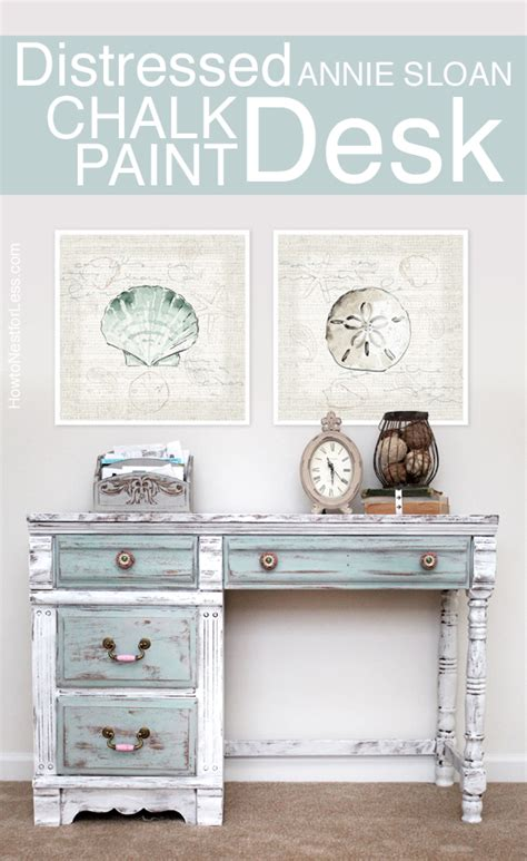 Where To Get Cheap Kitchen Cabinets distressed chalk paint desk makeover how to nest for less