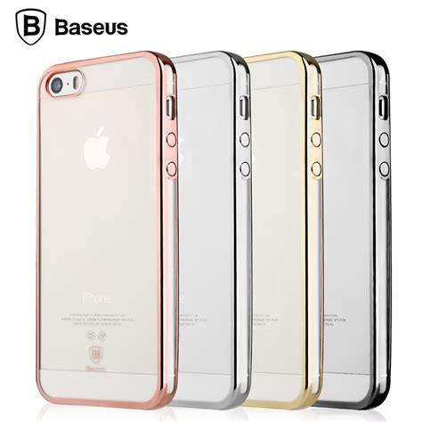 Baseus Shining Clear Soft Apple Iphone 5 5s Se Cover baseus for iphone 5 5s se luxury plating coque funda